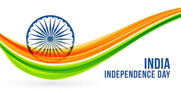 National freedon indian independence day banner