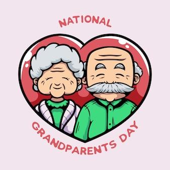 Национальный день бабушки и дедушки концепции иллюстрации