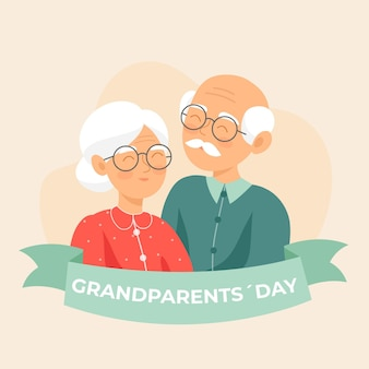 National grandparents' day flat design background