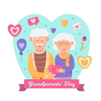 Concetto illustrato giorno nazionale dei nonni