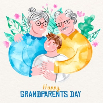 National grandparents' day illustration