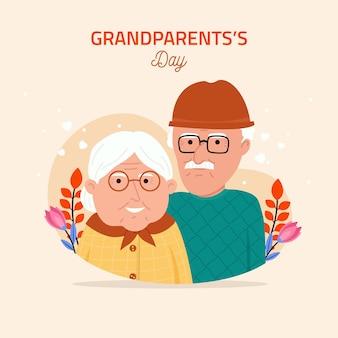 National grandparents' day illustration