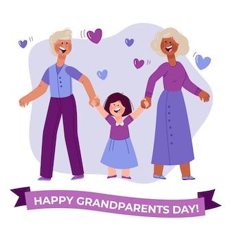 祖父母の日イラスト