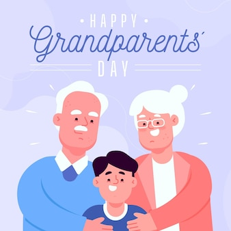 평면 디자인의 조부모의 날