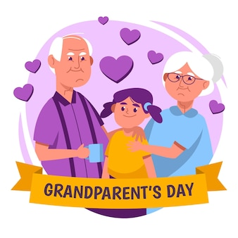 National grandparents' day with couple and niece