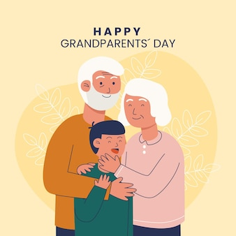 National grandparents' day with grandparents and nephew