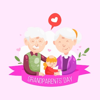 National grandparents' day with young person and grandparents