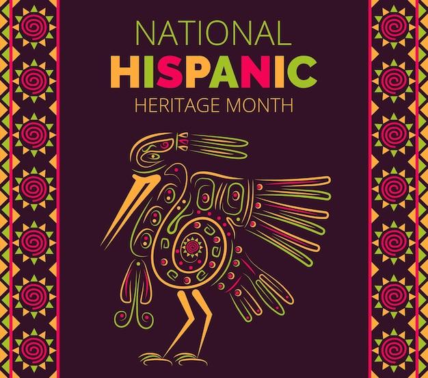 국가 히스패닉 유산의 달은 미국에서 9월 15일부터 10월 15일까지입니다.