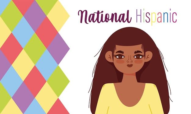 Месяц национального латиноамериканского наследия, мультфильм молодой женщины