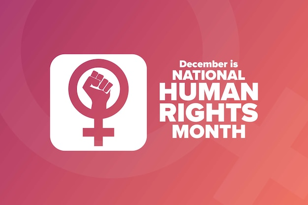 全国人権月間。休日のコンセプト。