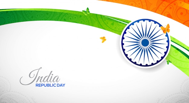 National indian republic day abstract