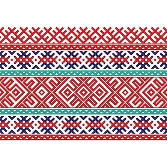 Национальное вязание полосатого славянского орнамента