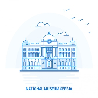 National museum serbia blue landmark