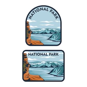 国立公園のグラフィックイラスト