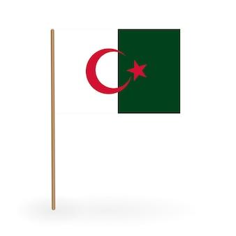 Национальный красно-белый флаг королевства бахрейн. знамя на флагштоке. векторные иллюстрации. eps10