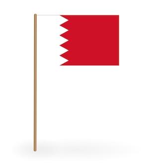 Национальный красно-белый флаг королевства бахрейн размахивая знаменем
