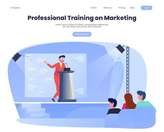 ホールビル内の講演者による専門的な販売マーケティングトレーニングに関する全国セミナー