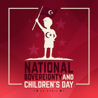 National sovereignty and children's day and flag