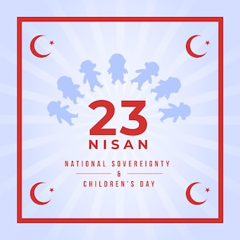 National sovereignty and children's day illustration