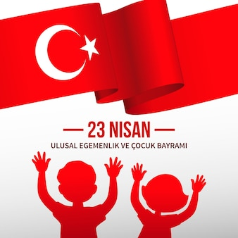 National sovereignty and childrens day concept