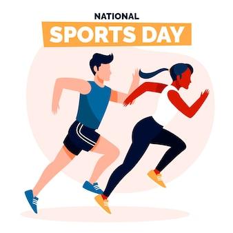 Иллюстрация дня национального спорта индонезии