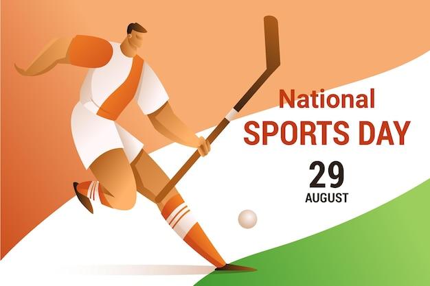 Illustrazione della giornata nazionale dello sport