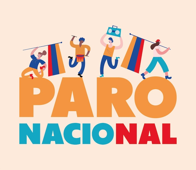 National strike colombian