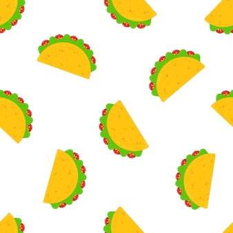 National taco day festive design seamless pattern