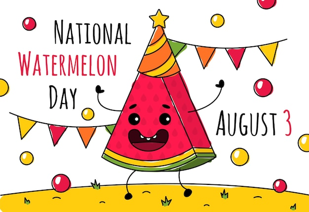 National watermelon day on august 3