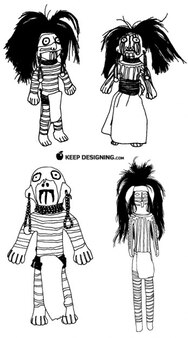 Native american figurine dolls