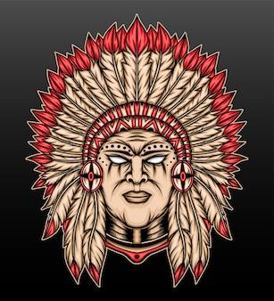 Дизайн иллюстрации коренных американцев