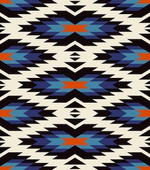 Орнамент коренных американцев индейцев. племенной бесшовные красочные геометрические этнические текстуры