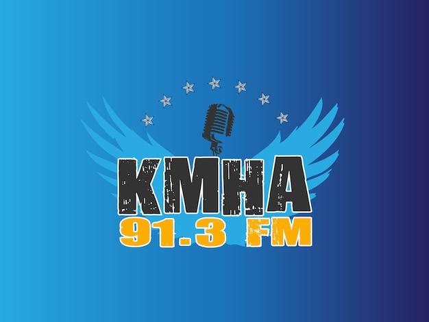 Native american radio logo design