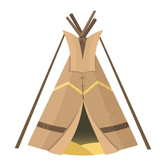Native american sioux style tipi. garden tent or for travelling.