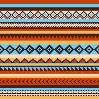 ネイティブアメリカンの部族のシームレスなパターン。