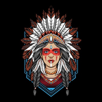 Native american women  illustration
