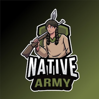 Native army logo template
