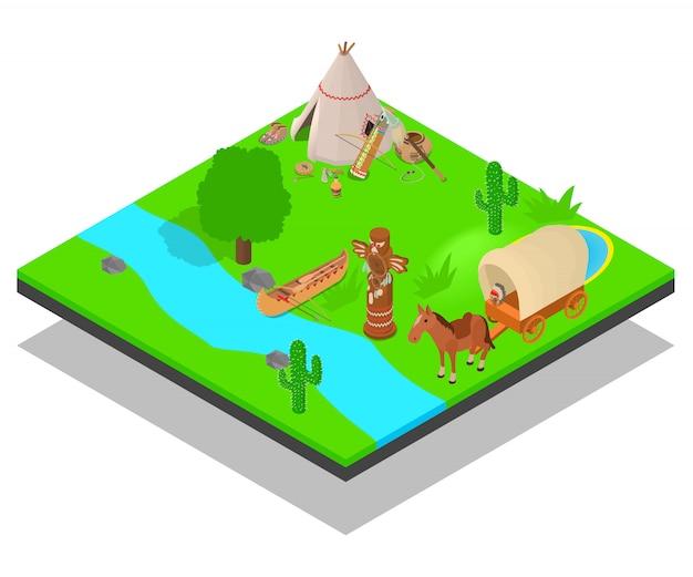 Native inhabitant concept scene