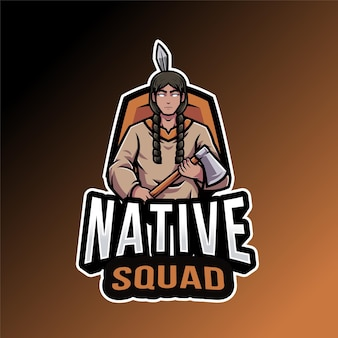 Native squad logo template