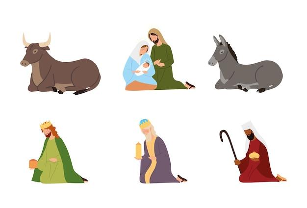 Nativity characters set a