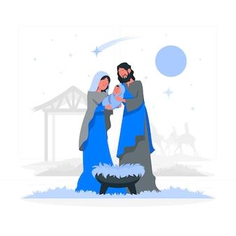 Иллюстрация концепции рождества