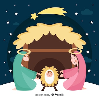 Nativity night background