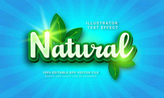 Natural 3d text style effect.