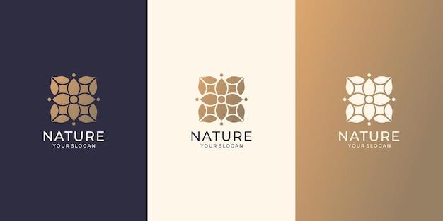 Естественный абстрактный дизайн цветок розы. плоский минималистичный дизайн вдохновение набор коллекции красоты природы.