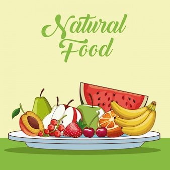 Natural and organic fruits