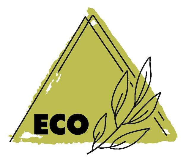 천연 및 유기농 제품 에코 및 안전 배너