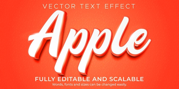 Natural apple text effect template
