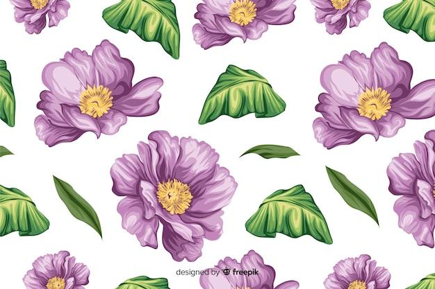 Естественный фон с красивыми цветами
