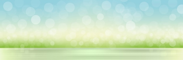 ぼやけている草と空との自然な背景