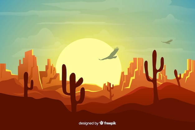 Natural background with desert landscape